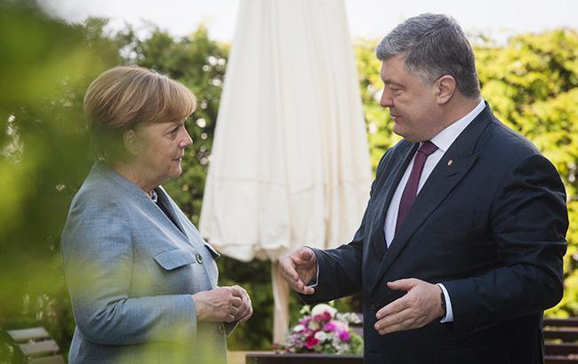 Фото: Петр Порошенко и Ангела Меркель (president.gov.ua)