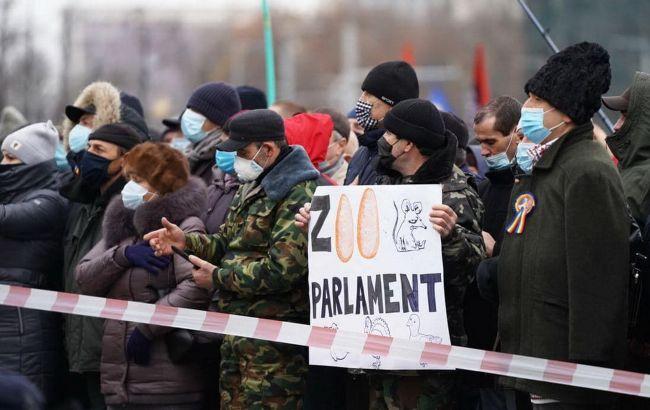 Сторонники Санду вышли на протесты в Молдове. Требуют роспуск парламента