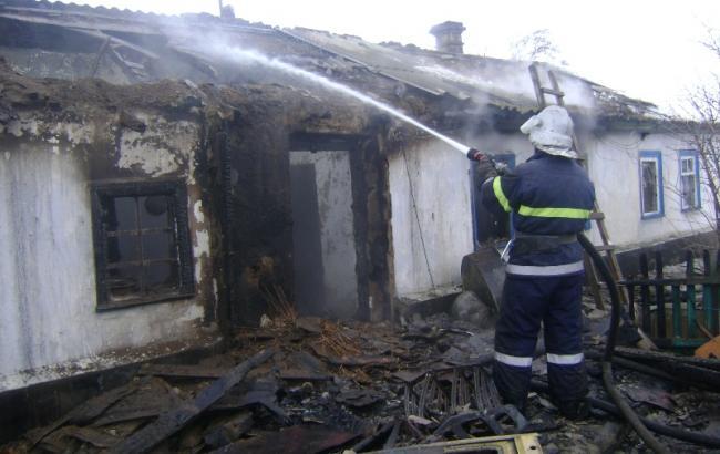 Фото: пожар в Херсонской области