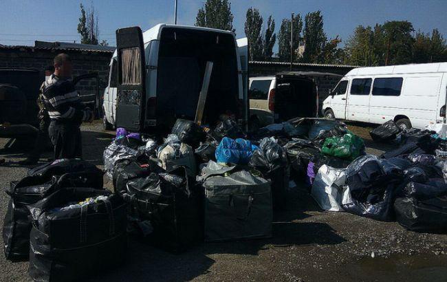 Фото: обнаруженные СБУ грузы