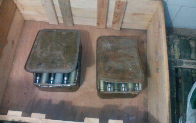 Фото: СБУ виявила в зоні АТО три схованки з боєприпасами