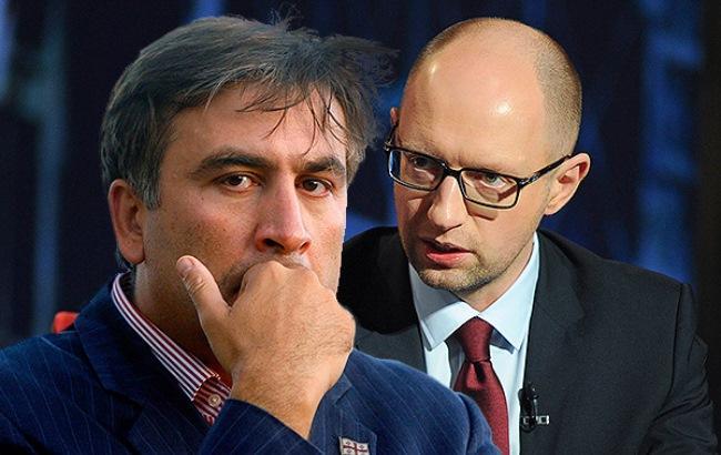 """Фото: Аваков бросил в лицо Саакашвили стакан, а Яценюк обозвал """"гастролером"""""""