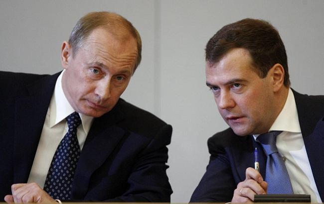 Фото: Володимир Путін і Дмитро Медведєв