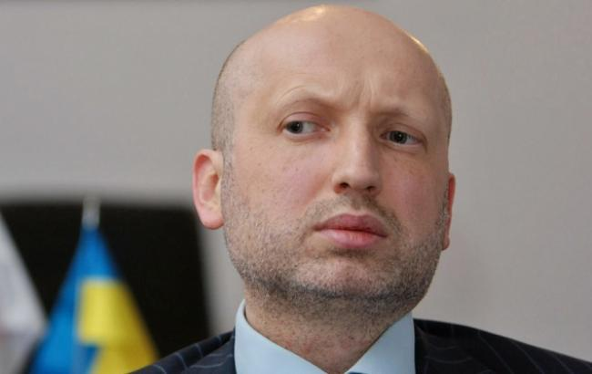 На фото: глава СНБО Украины Александр Турчинов