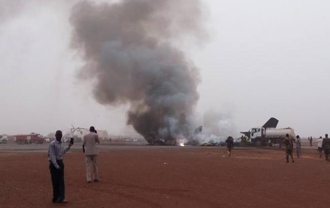 Фото: крушение самолета в Южном Судане