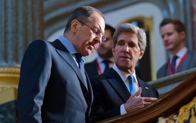 Фото: глава МИД РФ Сергей Лавров и Госсекретарь США Джон Керри
