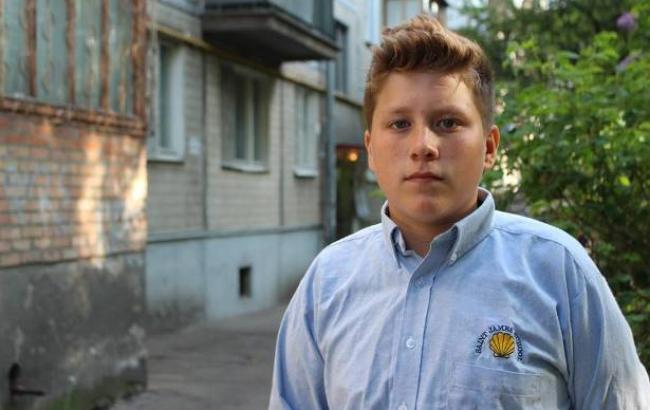 Фото: Юный герой Андрей Буртовой (facebook.com/DSNSKyiv)