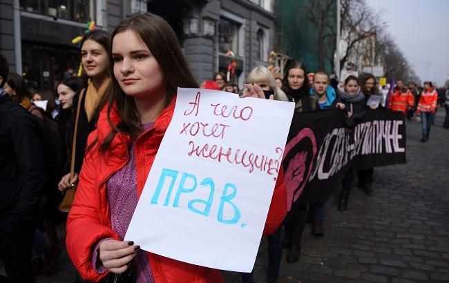 Фото: Марш Феміністок в Києві (РБК-Україна)