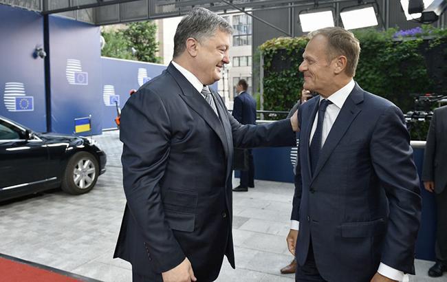 Фото: Петр Порошенко и Дональд Туск