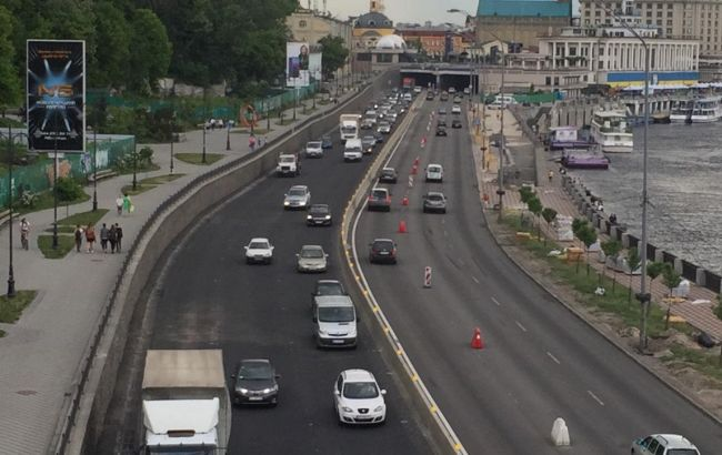 Фото: Набережне шосе (facebook.com/kievavtodor)