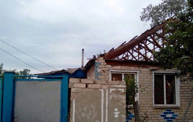 Фото: обстрел Троицкого (lg.npu.gov.ua)