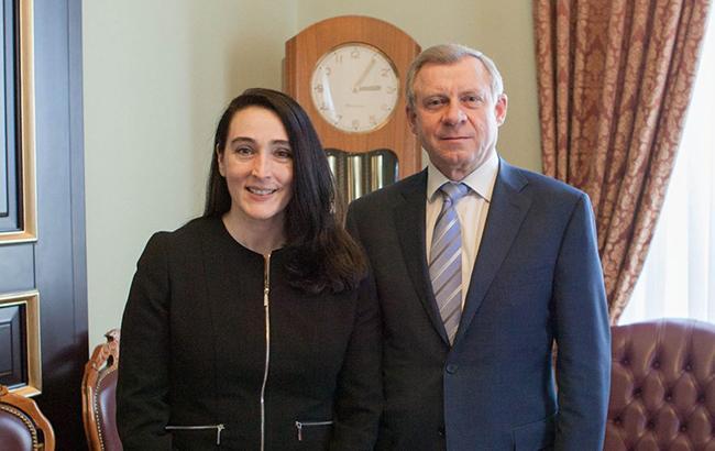 Фото: Лия Буизис и Яков Смолий (НБУ)