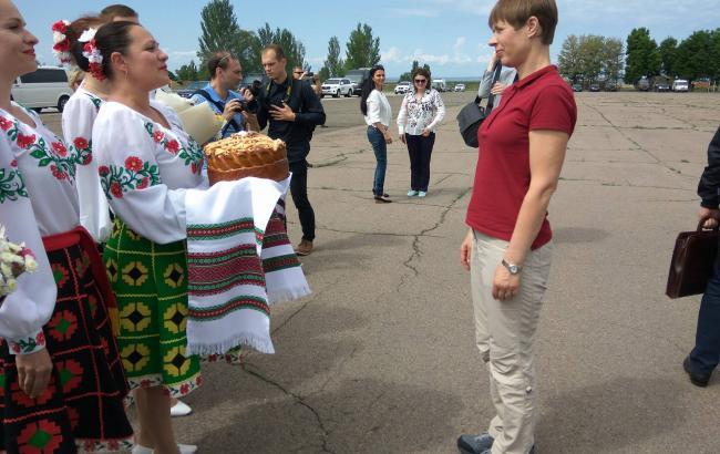 Фото: презедентЕстонії Керсті Кальюлайд у Краматорську (facebook.com/pressjfo.news)