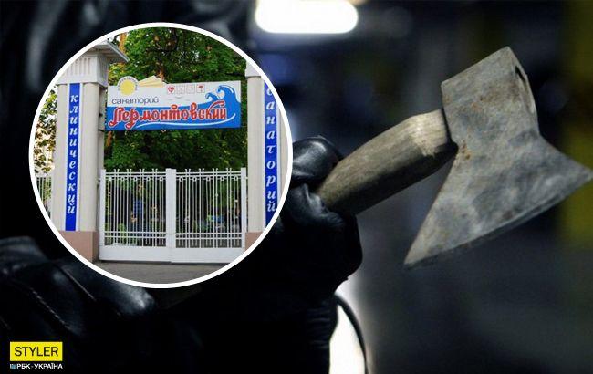 В Одессе охранник защищал санаторий топором и мечом: детали инцидента