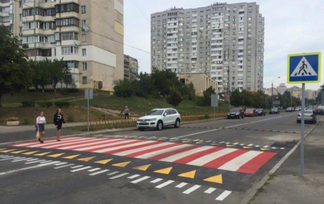 Фото: Новий перехід у столиці (kyivavtodor.kievcity.gov.ua)