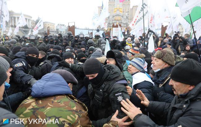 Протест в Киеве: перекрыли Крещатик, полиция призывает не прибегать к провокациям