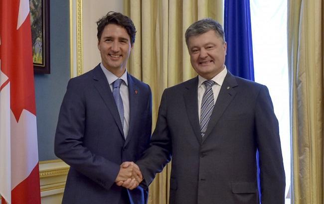 Фото: Петро Порошенко і Джастін Трюдо (прес-служба АПУ)
