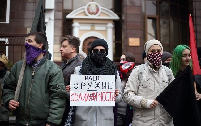 Фото: Акция в поддержку белорусских активистов (РБК-Украина)