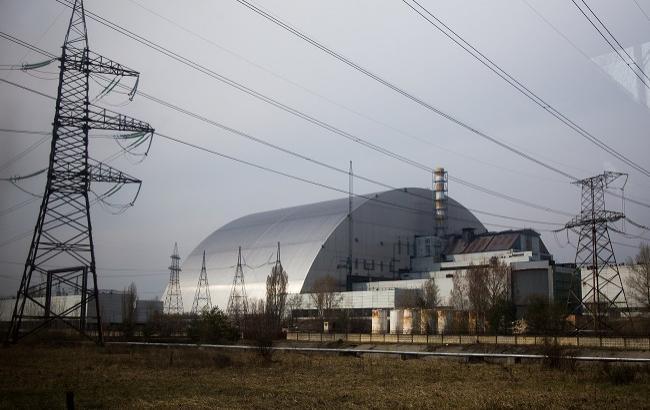 Фото: 4-й энергоблок ЧАЭС под новой аркой (РБК-Украина)