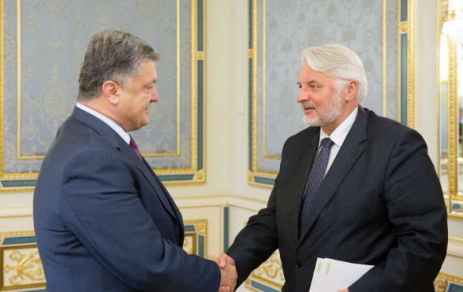 Фото: Петр Порошенко и Витольд Ващиковский