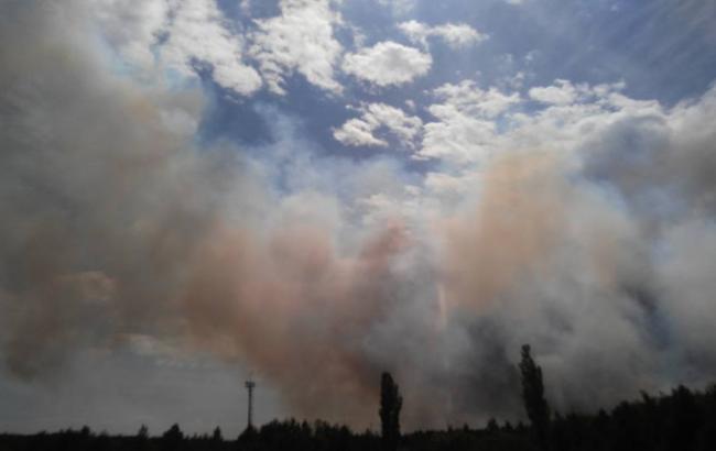 Фото: Пожар в Чернобыле (facebook.com/levina.ns)