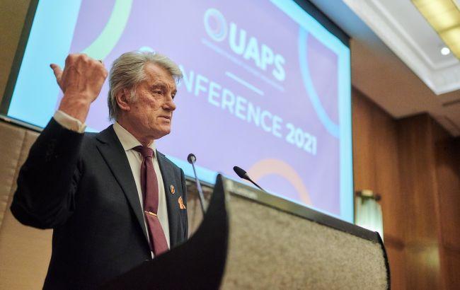 Ющенко выступил на 1-й конференции Украинской ассоциации платежных систем