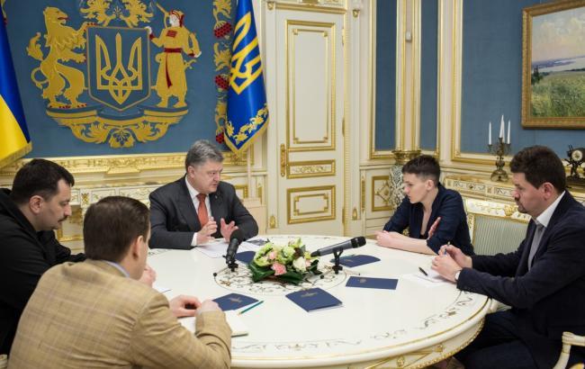 Порошенко предложил Савченко провести встречи севропейскими лидерами