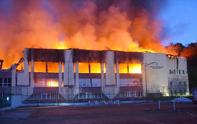 По факту пожара на спорткомплексе СКА во Львове открыто уголовное производство