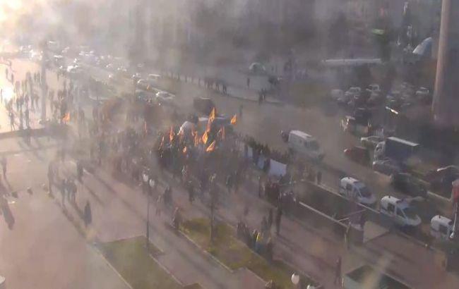 На Хрещатику розблокували рух транспорту