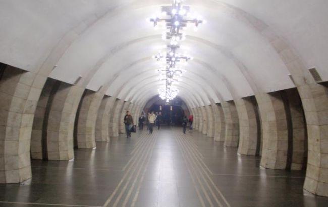 """Фото: инцидент произошел на станции метро """"Лыбедская"""""""