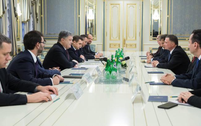 Фото: встреча Порошенко и Эдельштейна