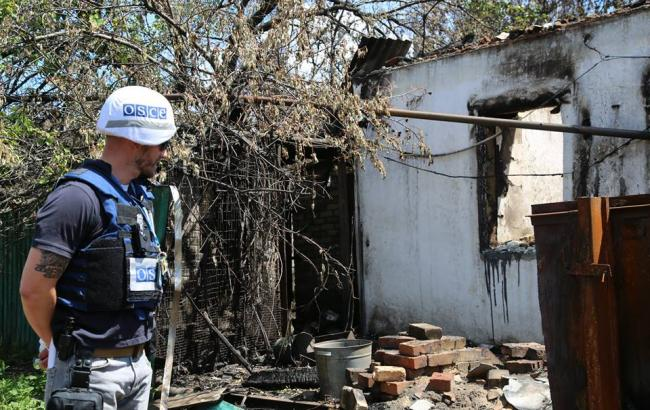 ОБСЕ показала последствия обстрелов Пивденного на линии соприкосновения