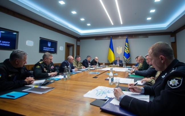 Фото: совещание Петра Порошенко с силовиками (president.gov.ua)