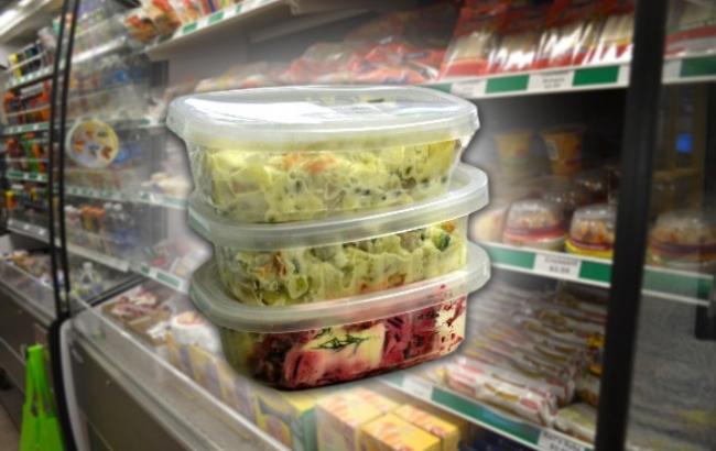 Фото: Салаты в пластиковой упаковке (voskr-news.ru)