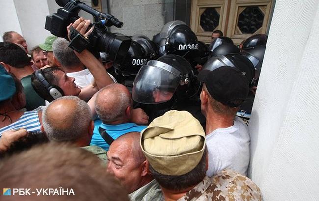 Поліція затримала другого активіста під Радою