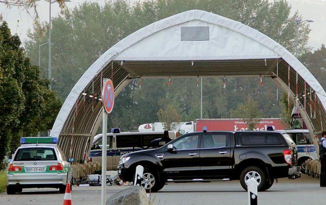 Фото: граница Германии с Австрией