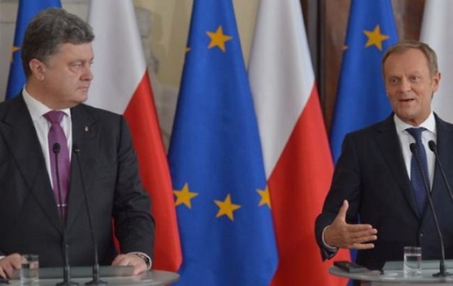 Порошенко и Туск обсудили возможность проведения саммита Украина-ЕС в Киеве в конце апреля