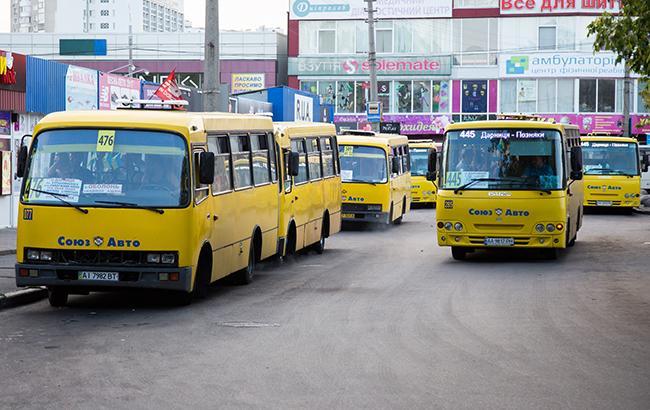 Фото: маршрутки Киева (РБК-Украина)
