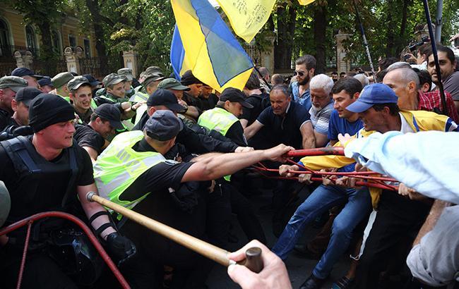 Потасовка на улице Банковой (Фото: РБК-Украина/Виталий Носач)