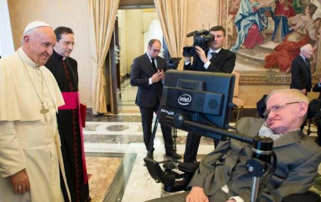 Фото: Папа Римський і Стівен Хокінг (reuters.com)