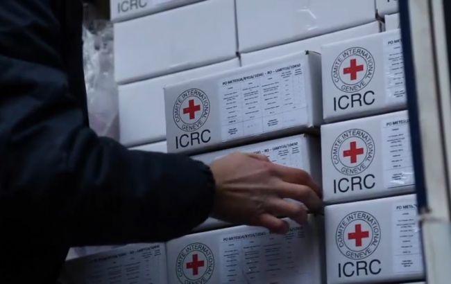 Фото: боевики обстреляли миссию Красного Креста на Донбассе