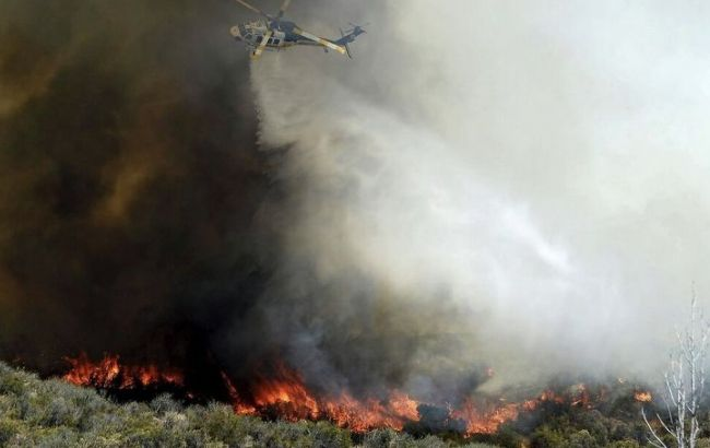 Фото: ліквідація лісової пожежі в Каліфорнії