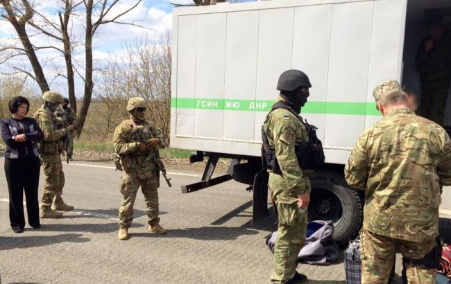 Фото: передача заключенных украинской стороне