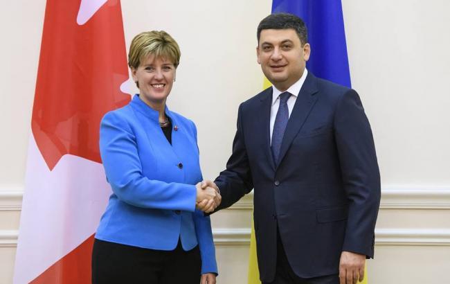 Канада готова принять следующую международную конференцию по вопросам реформ в Украине, - Гройсман