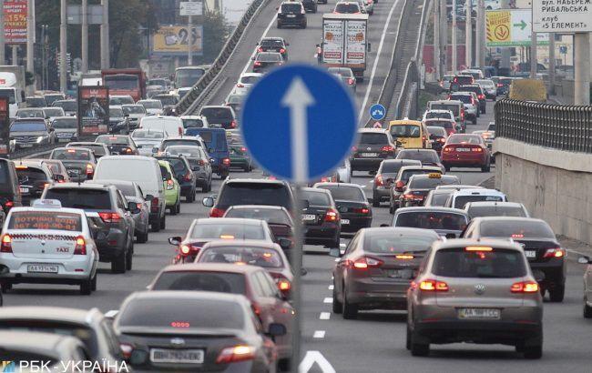 В Киеве образовались многочисленные пробки