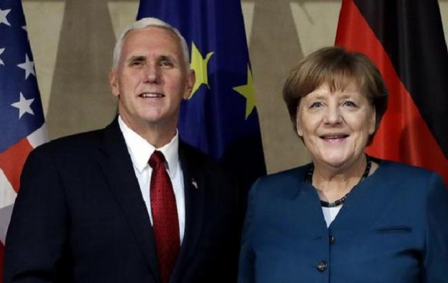 Фото: Ангела Меркель провела встречу с Майком Пенсом в рамках Мюнхенской конференции-2017