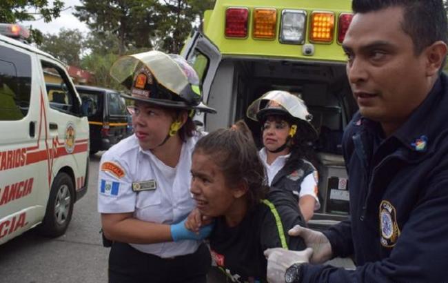 Фото: пожежа у дитячому притулку в Гватемалі