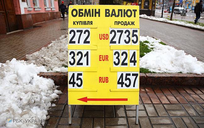 Наличный курс доллара в продаже понизился до 27,29 гривны/доллар