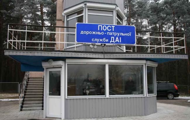 У Києві обстріляли пост ДАІ на Броварському шосе
