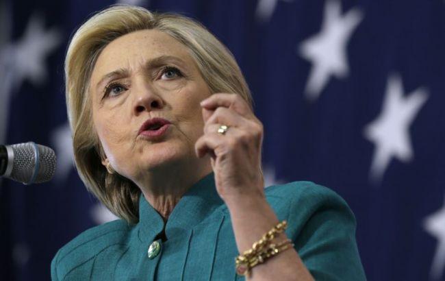 Фото: кандидат в президенты США от Демократической партии Хиллари Клинтон